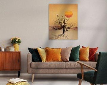 Desert tree van Leon Brouwer