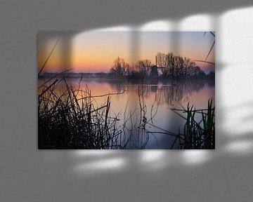 Kleurrijke lucht net vóór zonsopkomst van Bart Nikkels