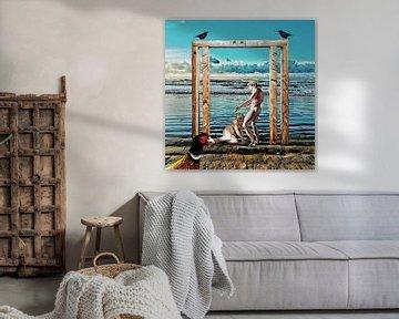 Die Entdeckung von Adam und Eva (am Meer) von Ruben van Gogh