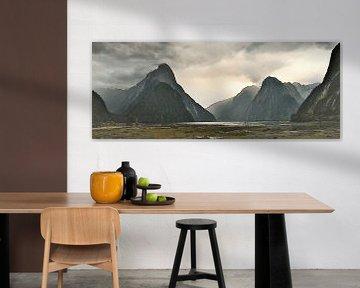 Epischer Milford Sound - Piopiotahi - Neuseeland - Gemälde von Schildersatelier van der Ven