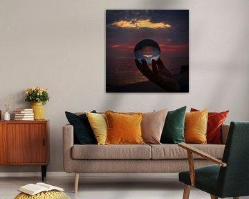 Lenseball Sonnenuntergang von Tobias Schulz