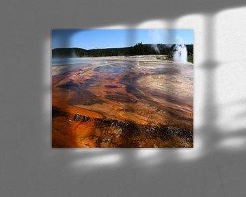 Heiße  Quellen und ihre Farben
