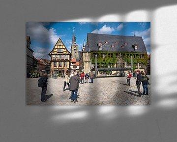 Historische Altstadt mit dem Marktplatz von Quedlinburg von Heiko Kueverling