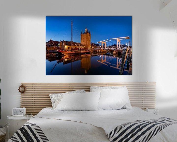 Sfeerimpressie: Avond in Zierikzee, Nederland van Adelheid Smitt