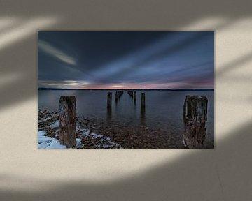 Coucher de soleil au lac Starnberg sur Teresa Bauer