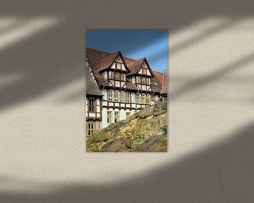 Fachwerkhäuser am Schlossberg in der Welterbestadt Quedlinburg von Heiko Kueverling