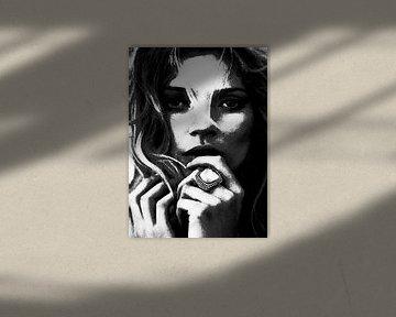 """Kate MOSS """"Ring"""" von Kathleen Artist Fine Art"""