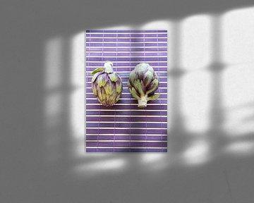 Twee artisjokken  van Tess Smethurst-Oostvogel