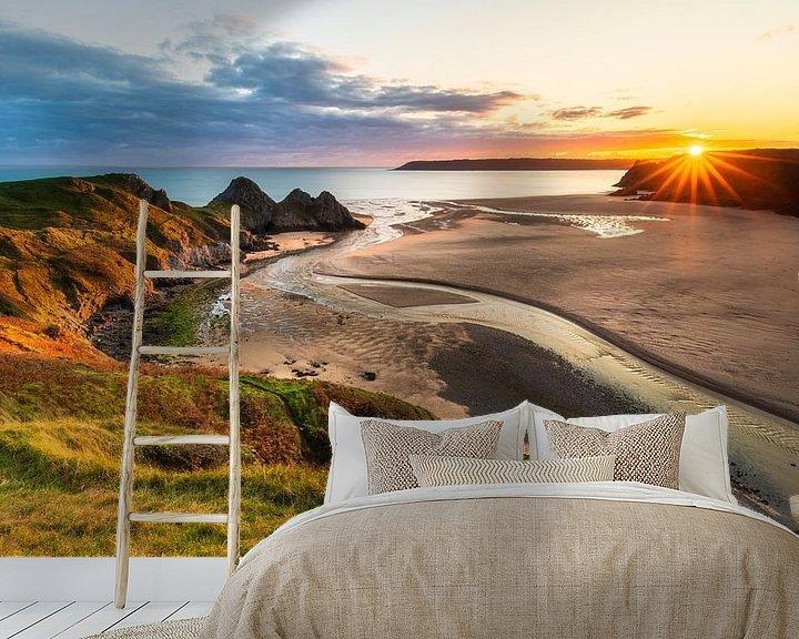 Impression: Coucher de soleil au Pays de Galles sur Daniela Beyer