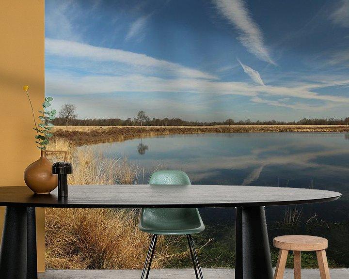 Sfeerimpressie behang: Een Pingoruine vlakbij Marum in Groningen van Pim van der Horst