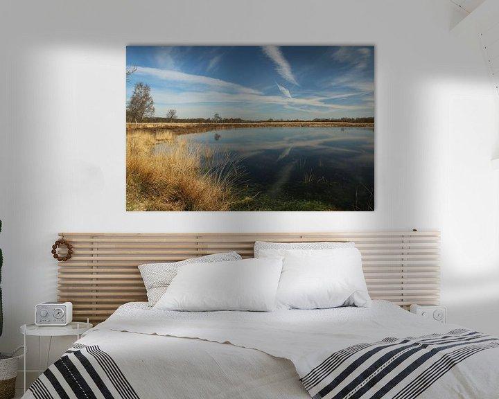 Sfeerimpressie: Een Pingoruine vlakbij Marum in Groningen van Pim van der Horst