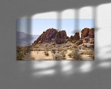 Rotsformatie in Namibië van Achim Prill