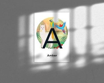 Namensschild Amber von Hannahland .