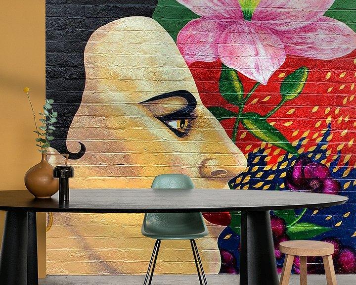 Beispiel fototapete: Straße Blume Frida von Rudy & Gisela Schlechter