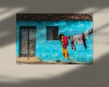 Blauer Giebel in Orccha von Theo Molenaar