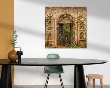 Fassade in Orchha, Indien von Theo Molenaar