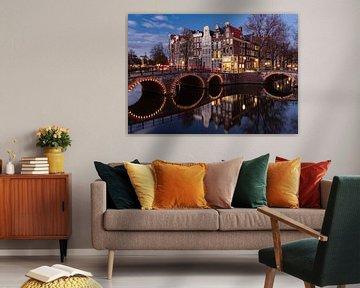 Ecke Keizersgracht/Leidsegracht Amsterdam von Remy Kremer