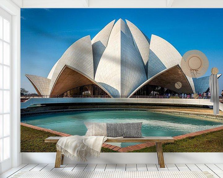 Beispiel fototapete: Bahai-Lotus-Tempel, Neu-Delhi. von Theo Molenaar