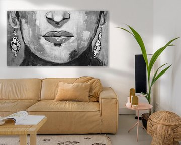 "Frida ""Mouth"" van Kathleen Artist Fine Art"