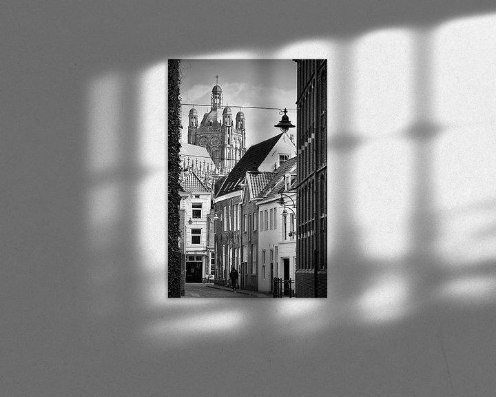 Sfeerimpressie: De Waterstraat in Den Bosch in zwart-wit van Jasper van de Gein Photography