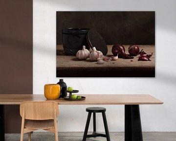 Rote Zwiebeln & frischer Knoblauch von Alexander Tromp