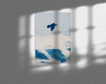 Freier Vogel - wildes Meer von Remke Spijkers