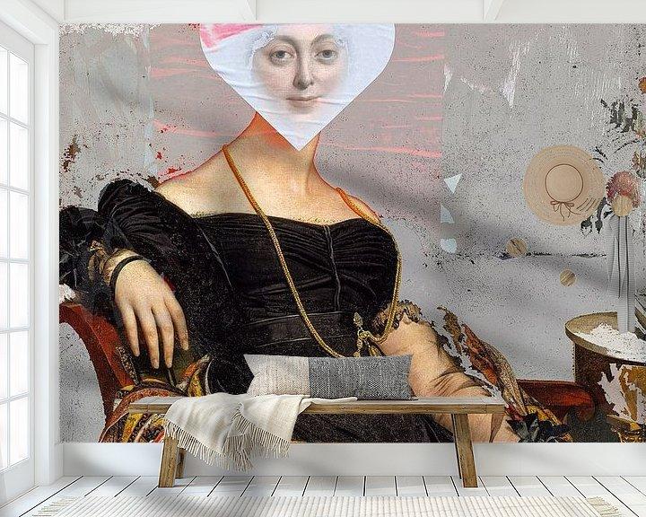 Beispiel fototapete: Madame Jacque and the white heart von Gabi Hampe