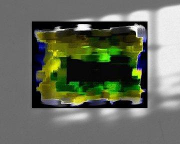 Abstrakt blau gelb grün von Maurice Dawson