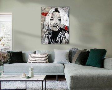 """Kate Moss """"Schnauzbart"""" von Kathleen Artist Fine Art"""