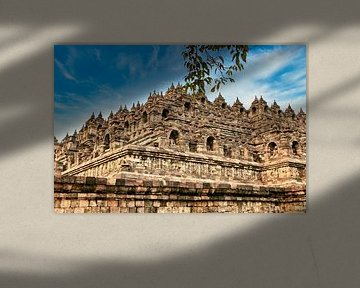 Borobudur N-O Ecke von Eduard Lamping