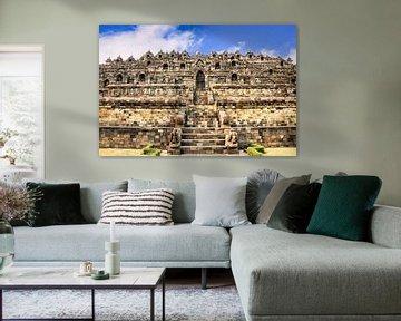Rückseite des Borobudur von Eduard Lamping