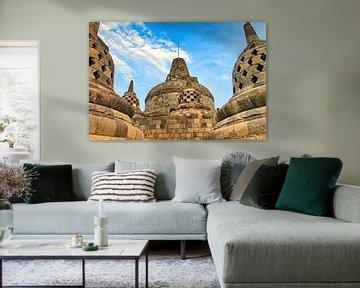 Haupt-Stupa Borobudur von Eduard Lamping