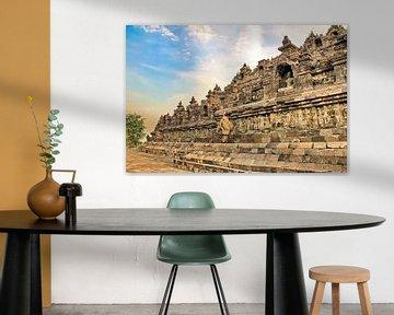 Reliefs Seite Borobudur von Eduard Lamping