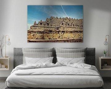 Westseite des Borobudur von Eduard Lamping