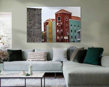 Moderne Architektur in Willemstad, Curacao von rene marcel originals