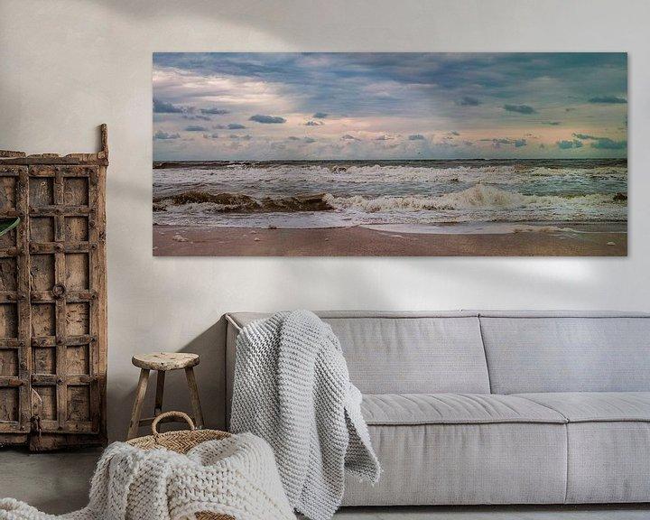 Sfeerimpressie: De zee aan het strand van Texel van Marc Wielaert