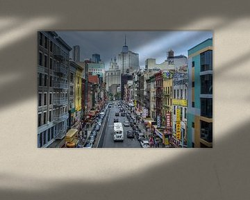 China Town, East Broadway street, New York