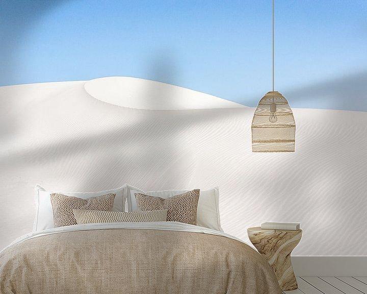 Sfeerimpressie behang: White Sands van Wijbe Visser