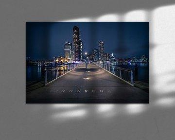 Rijnhavenbrug ( Hoerenlopertje) Katendrecht, Rotterdam van Anton Osinga