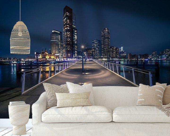 Beispiel fototapete: Rijnhaven-Brücke ( Hornswoggle) Katendrecht, Rotterdam von Anton Osinga