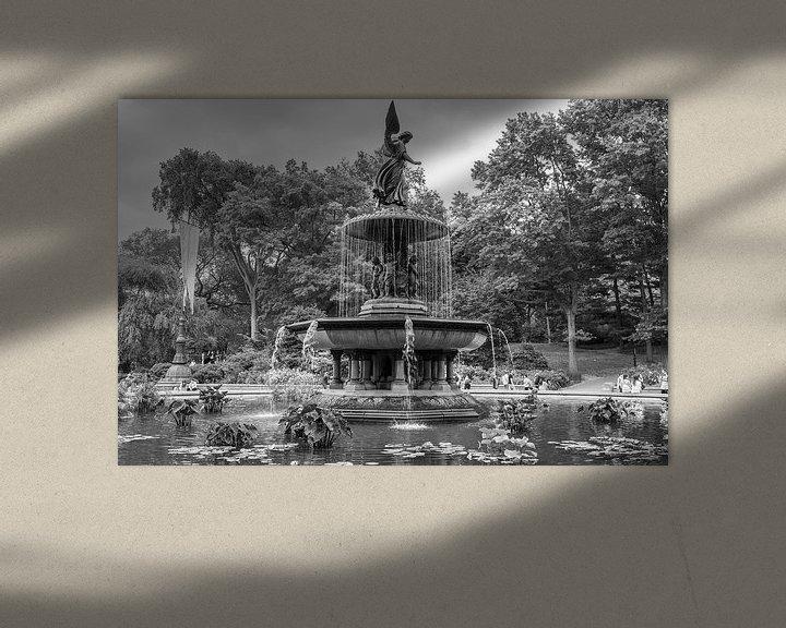 Sfeerimpressie: Bethesda Fontein, Central Park, New York van Vincent de Moor