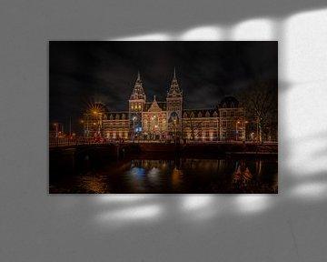 Le Rijksmuseum la nuit sur zeilstrafotografie.nl