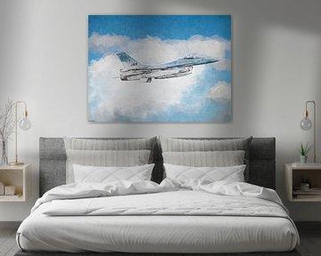 F16 skizziert und lackiert von Arjen Roos