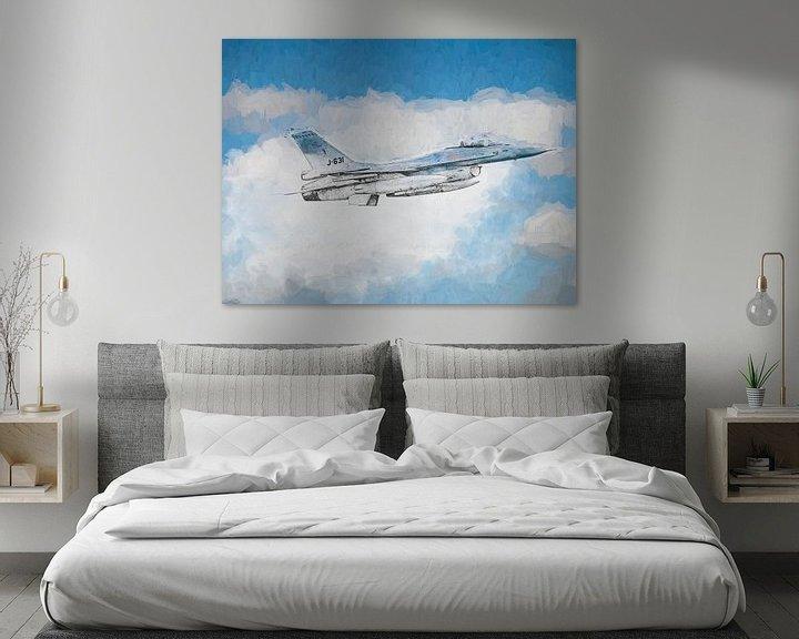 Beispiel: F16 skizziert und lackiert von Arjen Roos
