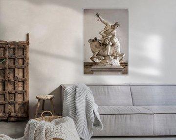 Statue d'Hercule tuant le centaure, dans le centre de Florence, en Italie. sur Joost Adriaanse