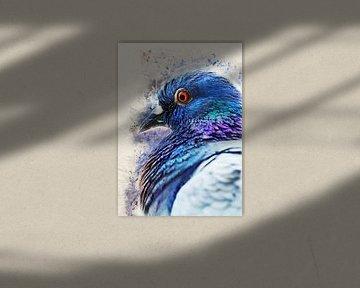 Taube Vogel Aquarell Kunst #Taube von JBJart Justyna Jaszke