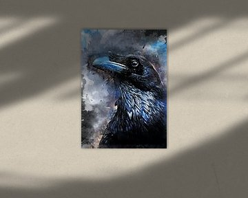 Rabe Vogel Aquarell Kunst #Rabe von JBJart Justyna Jaszke