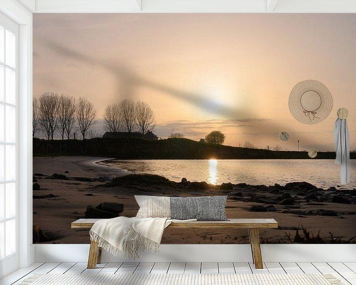 Sfeerimpressie behang: gouden Rijn van Tania Perneel