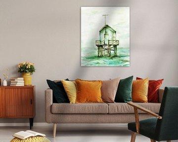Das Haus des Strandwarts. von Ineke de Rijk