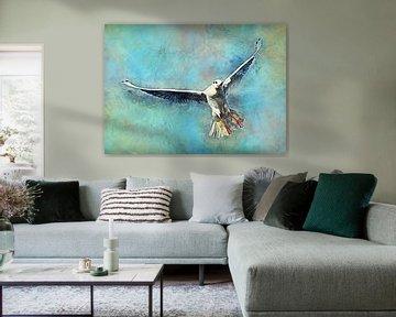Möwe Vogel Aquarell Kunst #Möwe von JBJart Justyna Jaszke